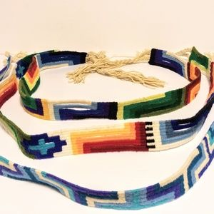 Other - ONE Cotton Belt Hand Crafted Dyed Strap NWOT Nepal